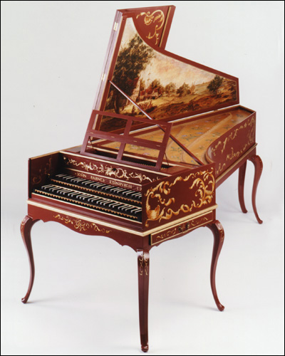 RWC Double manual Harpsichord with extra decoration and curved leg